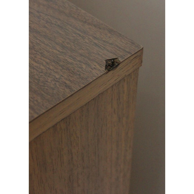 Image of Mid Century 4 Drawer Highboy Dresser
