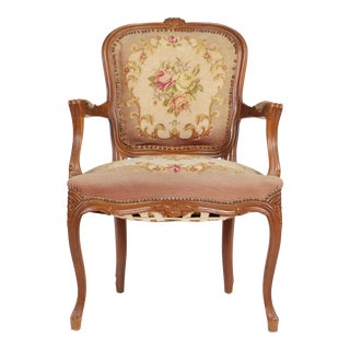 1930s French Needlepoint Fauteuil