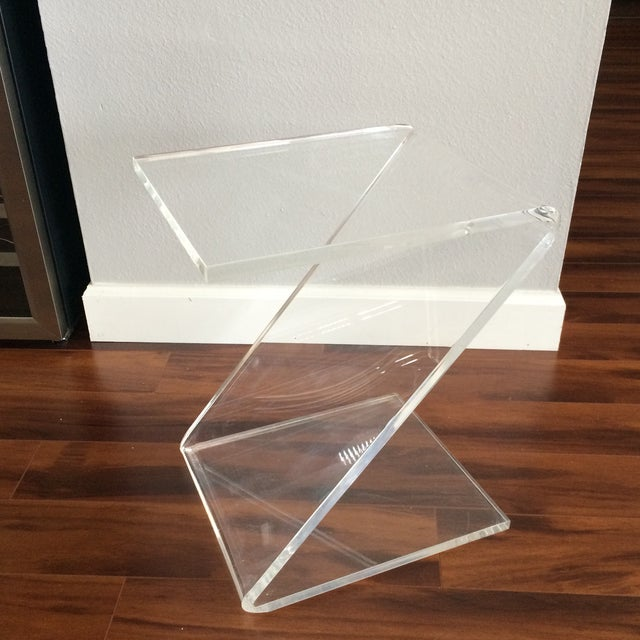 Vintage Lucite Z End Table Mascheroni Style - Image 3 of 7