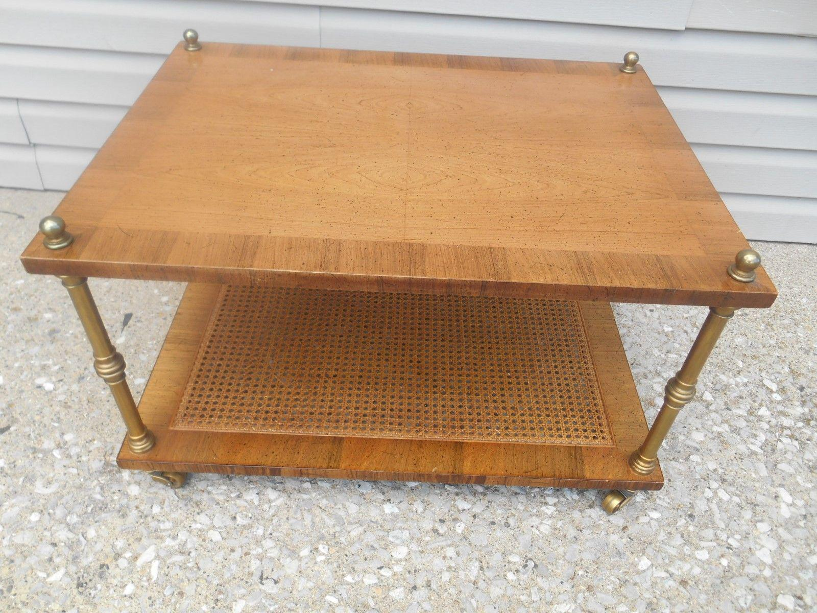 Henredon Mid Century Modern Birdseye Inlaid Maple Side Table   Image 2 Of 6