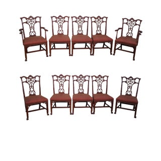Irish Chippendale-Style Emma Dining Chairs - Set of 10