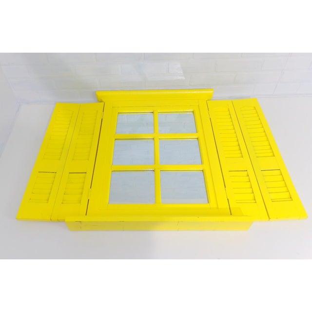 Yellow Window Pane Wall Mirror - Image 4 of 9