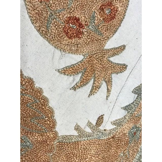 Silk Suzani Pastel Bedspread - Image 4 of 4