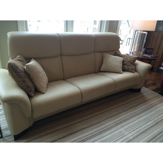 Ekornes Stressless Paradise 3 Seat Leather Sofa - Image 2 of 3