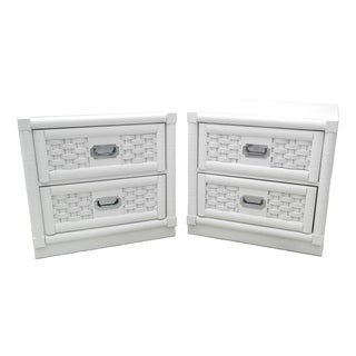 Lacquered Dixie Campaign Nightstands - A Pair