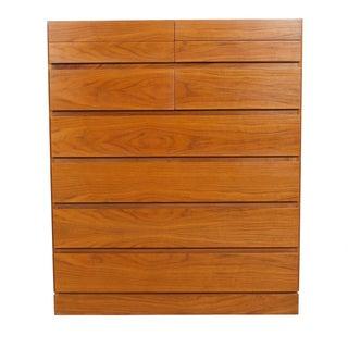 Danish Modern Tall Walnut Organizer Dresser