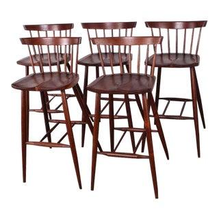 Set of Five Barstools by George Nakashima
