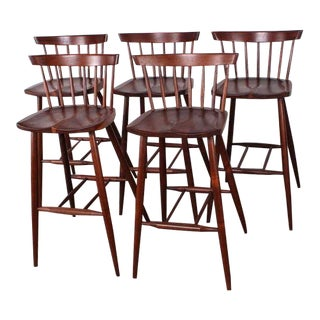 Set of Five Barstools by George Nakashima
