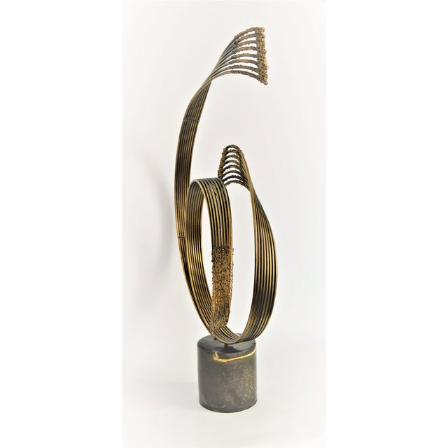 Curtis C. Jere Mid-Century Modern Vintage Brass Brutalist Kinetic Table Sculpture MCM Millennial - Image 4 of 11