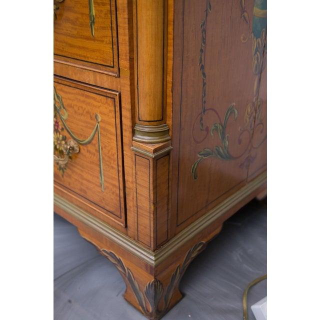 English Adams Style Painted Satinwood Secretary - Image 5 of 10