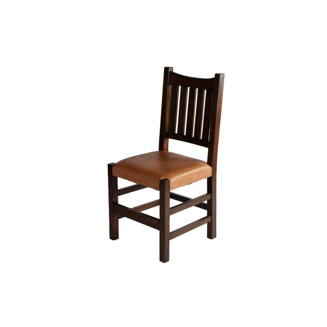 Mission Limbert Style Dining Chairs - 8 - Image 2 of 5