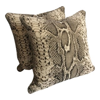 Kravet Lizard Chic Down Pillows - a Pair