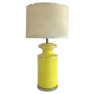 Pierre Cardin Style Glass Table Lamp
