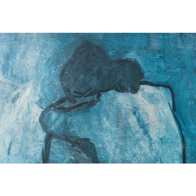 Mid Century Blue Nude Picasso Reproduction Print - Image 4 of 6