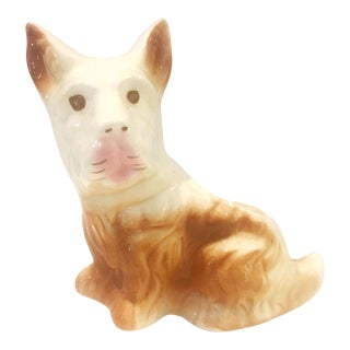 Ceramic Brown Dog Planter