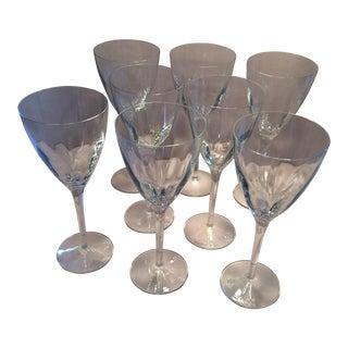 Vintage Crystal Wine or Water Goblets - Set of 8
