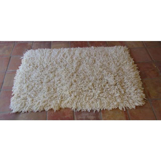 Image of Moroccan Boho Cotton Flokati Shag Rug - 3' X 5'