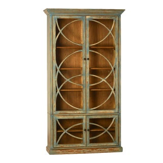 Deco Glass Door Cabinet