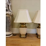 Image of Chapman Ceramic and Brass Hollywood Regency Lamps - Pair