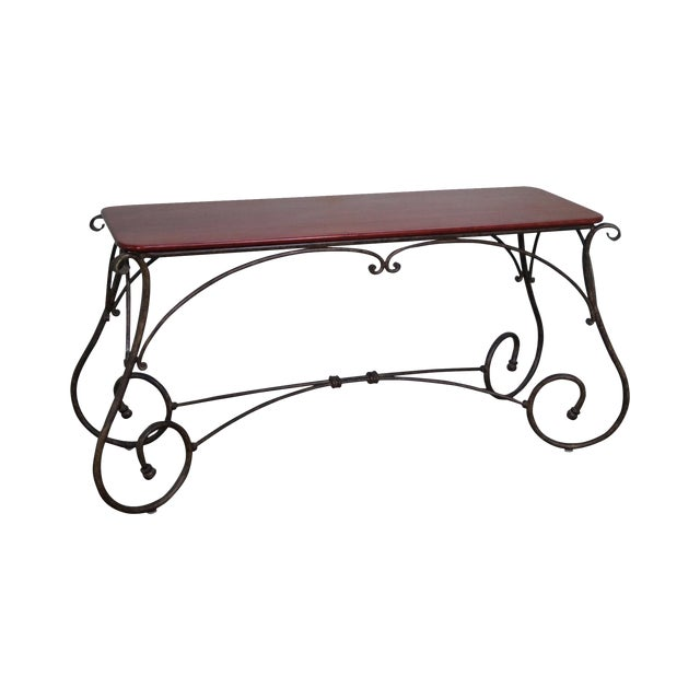 Brown Jordan Tuscan Style Console Table - Image 1 of 10