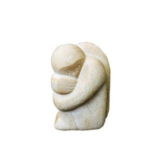 Vintage Large Carved Stone Monkey