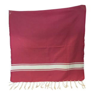 Pink Striped Tunisian Hammam Towel