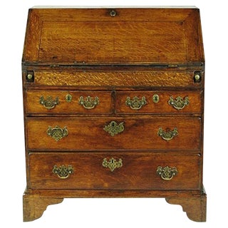 18th Century Oak Georgian Secretary Desk