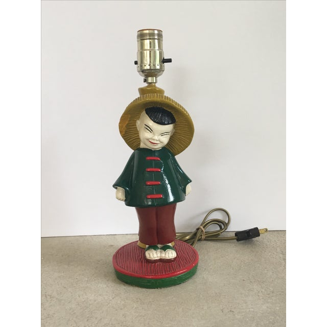 1960s Asian Boy & Girl Lamps - A Pair - Image 6 of 8