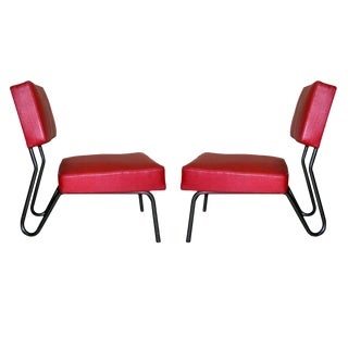 Pair of French Modernist Chairs by Jacques Hitier