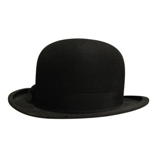 Vintage Black Derby Hat