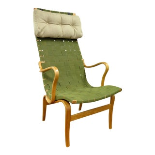Early Mathsson Eva H Chair with Arms and Pillow