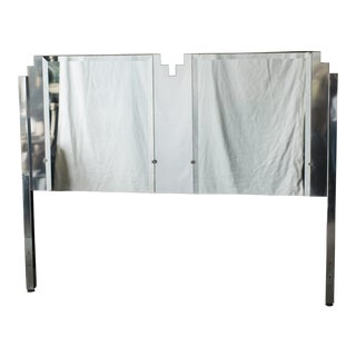 Art Deco Style Mirrored Queen Size Headboard by Ob Solie for Ello