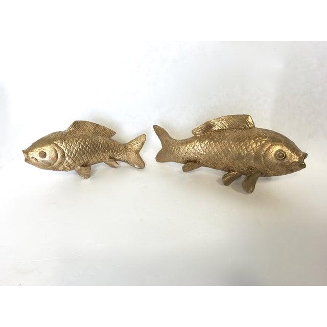 Image of Vintage Gilt Koi Fish - Pair