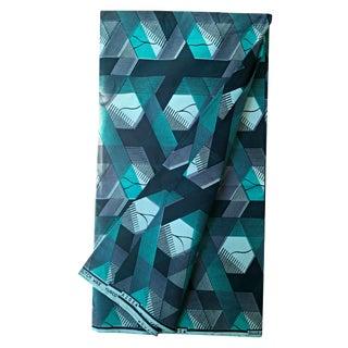 Blue Geometric African Wax Fabric -2 Yards
