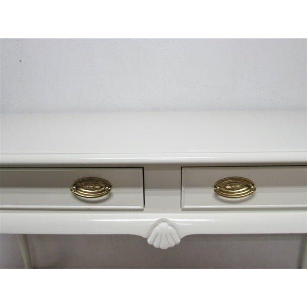 Drexel Lacquered 2-Drawer Desk - Image 4 of 7
