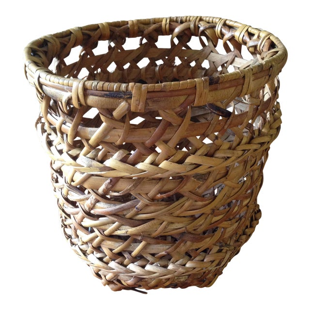 Large Vintage Rattan Planter Basket - Image 1 of 11