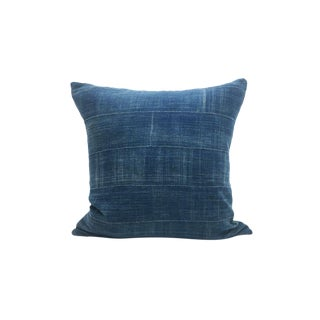 Vintage African Solid Indigo Pillow