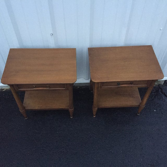Mid-Century End Tables With Single Drawer - Pair - Image 11 of 12