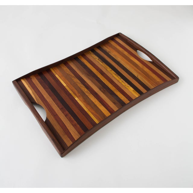 Don Shoemaker for Señal Rosewood Handled Tray - Image 3 of 10
