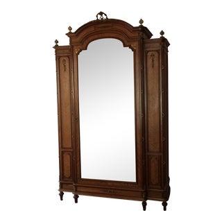 European Beveled Mirror Armoire