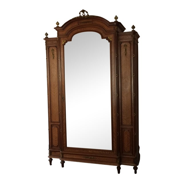 Image of European Beveled Mirror Armoire