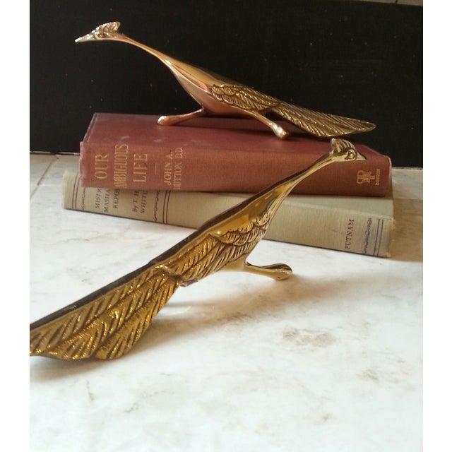 Mid-Century Brass Peacocks - A Pair - Image 5 of 8