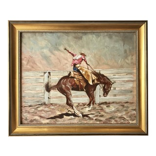 J. Thorpe Vintage Western Oil Painting