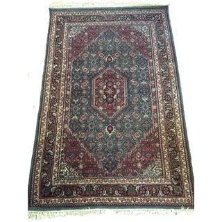 Antique Vintage Persian Oriental Blue Rug - 4′ × 6′