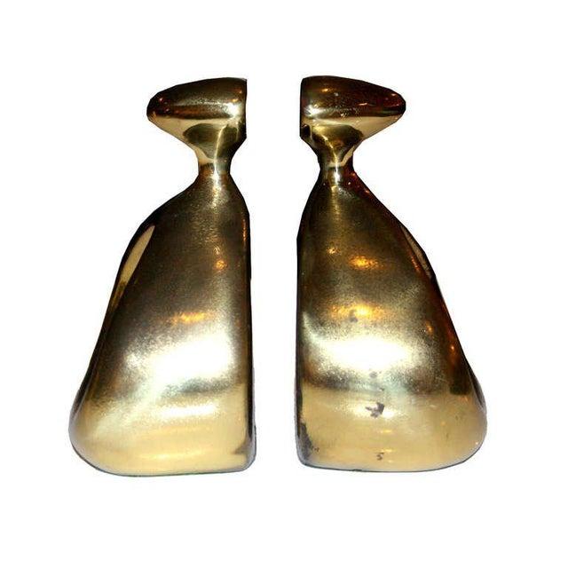 Ben Seibel Moderne Brass Bookends - Image 3 of 4