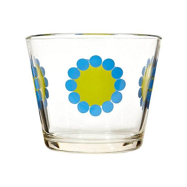 Image of 1970's Floral-Designed Glass Ice Bucket