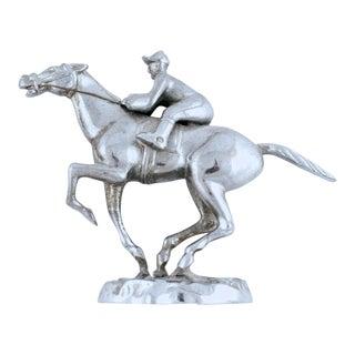 Vintage English Race Horse Chrome Car Mascot
