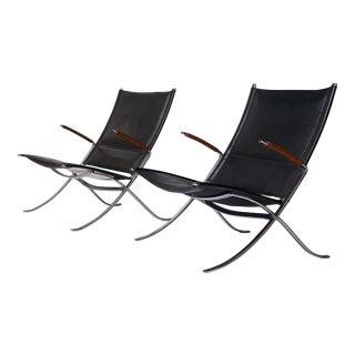"""Preben Fabricius & Jorgen Kastholm FK 82 """"X"""" chairs"""