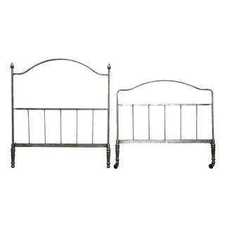 Gray Metal Twin Bedframe