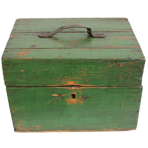 Hungarian Green Storage Box - Image 1 of 3